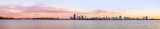 Perth and the Swan River at Sunrise, 20th February 2014