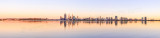 Perth and the Swan River at Sunrise, 23rd February 2014