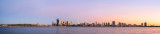 Perth and the Swan River at Sunrise, 27th February 2014