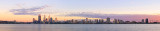 Perth and the Swan River at Sunrise, 11th April 2014