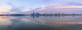 Perth and the Swan River at Sunrise, 25th April 2014