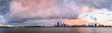 Perth and the Swan River at Sunrise, 27th April 2014
