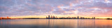 Perth and the Swan River at Sunrise, 30th April 2014