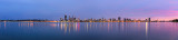 Perth and the Swan River at Sunrise, 4th May 2014