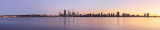 Perth and the Swan River at Sunrise, 6th June 2014