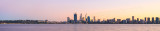 Perth and the Swan River at Sunrise, 15th June 2014