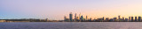 Perth and the Swan River at Sunrise, 16th June 2014