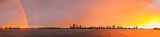 Rainbow over Perth and the Swan River at Sunrise, 21st June 2014