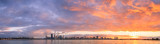 Perth and the Swan River at Sunrise, 26th June 2014