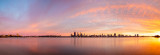 Perth and the Swan River at Sunrise, 29th June 2014