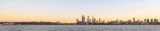 Perth and the Swan River at Sunrise, 4th July 2014