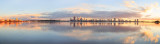 Perth and the Swan River at Sunrise, 20th July 2014