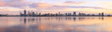 Perth and the Swan River at Sunrise, 3rd September 2014