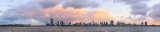 Perth and the Swan River at Sunrise, 8th September 2014