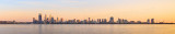 Perth and the Swan River at Sunrise, 24th September 2014