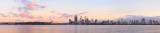 Perth and the Swan River at Sunrise, 26th September 2014