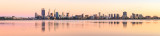 Perth and the Swan River at Sunrise, 10th October 2014