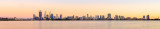 Perth and the Swan River at Sunrise, 8th October 2014