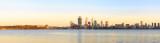 Perth and the Swan River at Sunrise, 13th October 2014