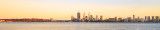 Perth and the Swan River at Sunrise, 14th October 2014