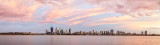 Perth and the Swan River at Sunrise, 1st February 2015