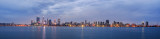 Perth and the Swan River at Sunrise, 13th February 2015