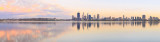 Perth and the Swan River at Sunrise, 26th February 2015