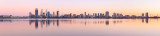 Perth and the Swan River at Sunrise, 28th March 2015