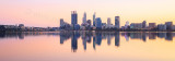 Perth and the Swan River at Sunrise, 24th May 2015