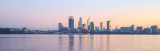 Perth and the Swan River at Sunrise, 8th June 2015