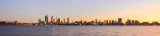 Perth and the Swan River at Sunrise, 10th June 2015