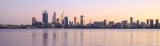 Perth and the Swan River at Sunrise, 25th June 2015