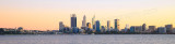 Perth and the Swan River at Sunrise, 15th July 2015