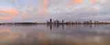 Perth and the Swan River at Sunrise, 23rd July 2015