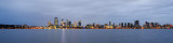 Perth and the Swan River at Sunrise, 28th July 2015