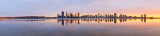 Perth and the Swan River at Sunrise, 2nd August 2015