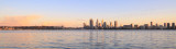 Perth and the Swan River at Sunrise, 28th August 2015