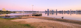 Perth and the Swan River at Sunrise, 6th October 2015