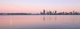 Perth and the Swan River at Sunrise, 26th December 2015