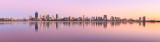 Perth and the Swan River at Sunrise, 2nd February 2016