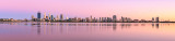 Perth and the Swan River at Sunrise, 5th February 2016