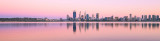 Perth and the Swan River at Sunrise, 10th February 2016