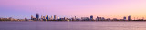 Perth and the Swan River at Sunrise, 14th February 2016