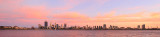 Perth and the Swan River at Sunrise, 16th February 2016