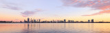 Perth and the Swan River at Sunrise, 13th March 2016