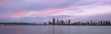 Perth and the Swan River at Sunrise, 8th April 2016