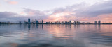 Perth and the Swan River at Sunrise, 6th May 2016