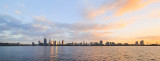 Perth and the Swan River at Sunrise, 16th May 2016
