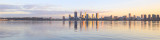 Perth and the Swan River at Sunrise, 8th June 2016