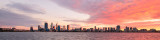 Perth and the Swan River at Sunrise, 19th June 2016